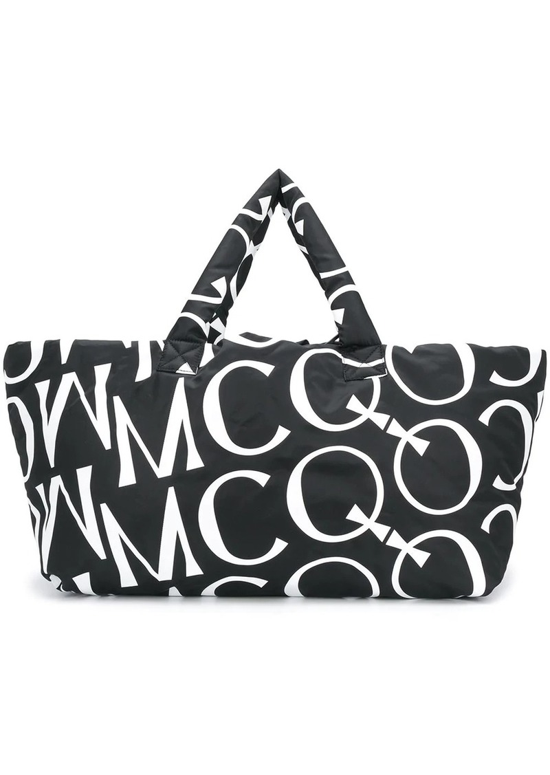 McQ Alexander McQueen oversized logo padded tote
