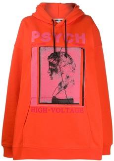 McQ Alexander McQueen oversized photo print hoodie