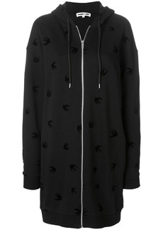 McQ Alexander McQueen oversized zip front hoodie
