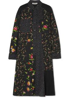 McQ Alexander McQueen Paneled Floral-print Georgette Shirt Dress