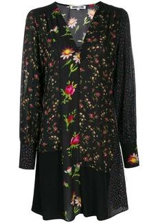 McQ Alexander McQueen panelled floral dress