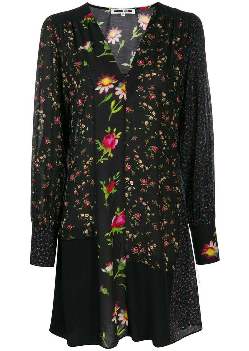 McQ Alexander McQueen panelled floral dress