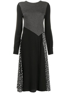 McQ Alexander McQueen panelled knitted midi dress