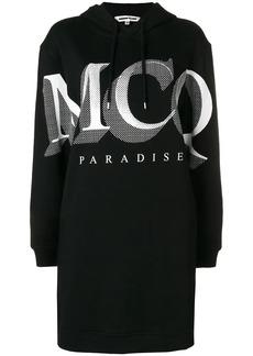 McQ Alexander McQueen Paradise logo hoodie dress