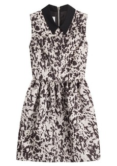 McQ Alexander McQueen Party Dress with Contrast Collar