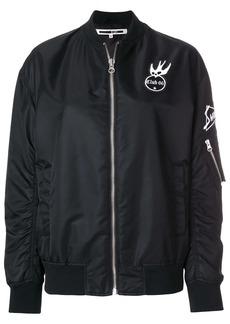 McQ Alexander McQueen patch detail bomber jacket