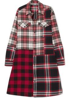 McQ Alexander McQueen Patchwork Cotton Shirt Dress