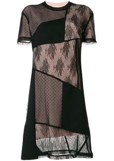 McQ Alexander McQueen patchwork lace detail dress