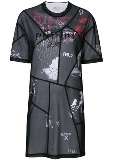 McQ Alexander McQueen patchwork print dress