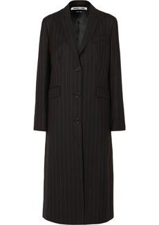 McQ Alexander McQueen Pinstriped Grain De Poudre Coat
