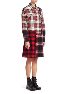 McQ Alexander McQueen Plaid Long-Sleeve Tunic