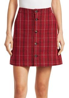 McQ Alexander McQueen Plaid Mini Skirt