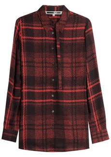 McQ Alexander McQueen Plaid Silk Blouse
