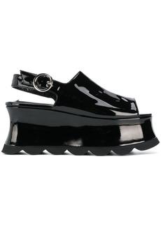 McQ Alexander McQueen platform slingback sandals