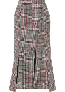 McQ Alexander McQueen Prince Of Wales Checked Wool-blend Midi Skirt