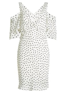 McQ Alexander McQueen Printed Crepe Dress