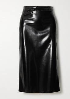 McQ Alexander McQueen Pu Midi Skirt