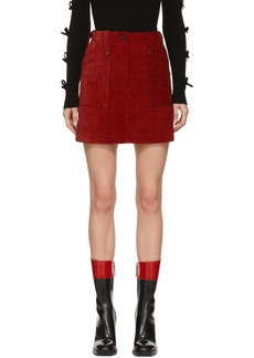 McQ Alexander McQueen Red Major Miniskirt