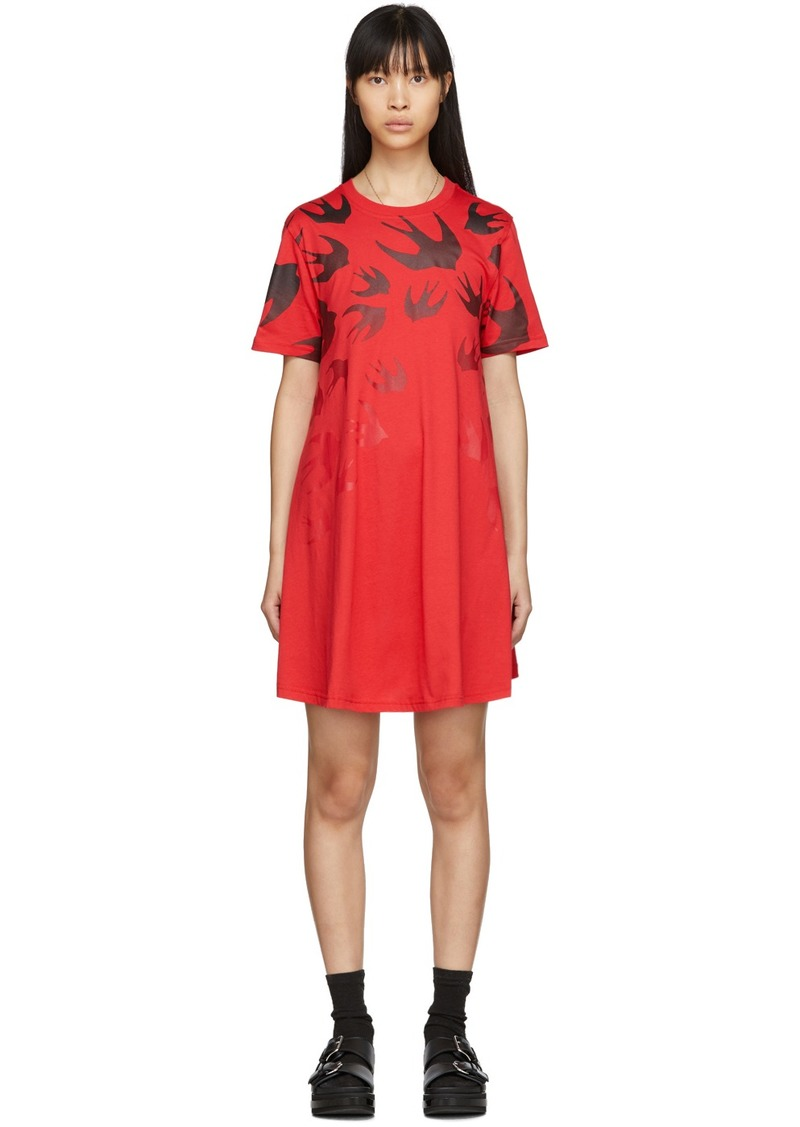 McQ Alexander McQueen Red Swallow Dress