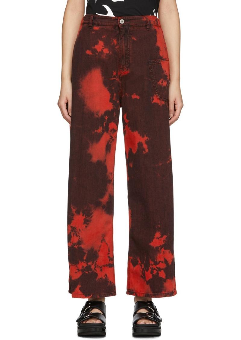 McQ Alexander McQueen Red Tie-Dye Maru Jeans