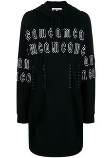 McQ Alexander McQueen repeat logo corset hoodie dress