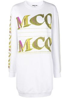 McQ Alexander McQueen repeat logo sweatshirt dress