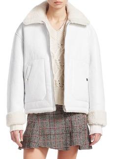 McQ Alexander McQueen Reversible Shearling Jacket