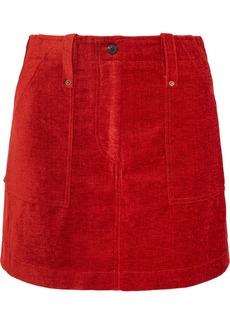 McQ Alexander McQueen Ribbed Chenille Mini Skirt