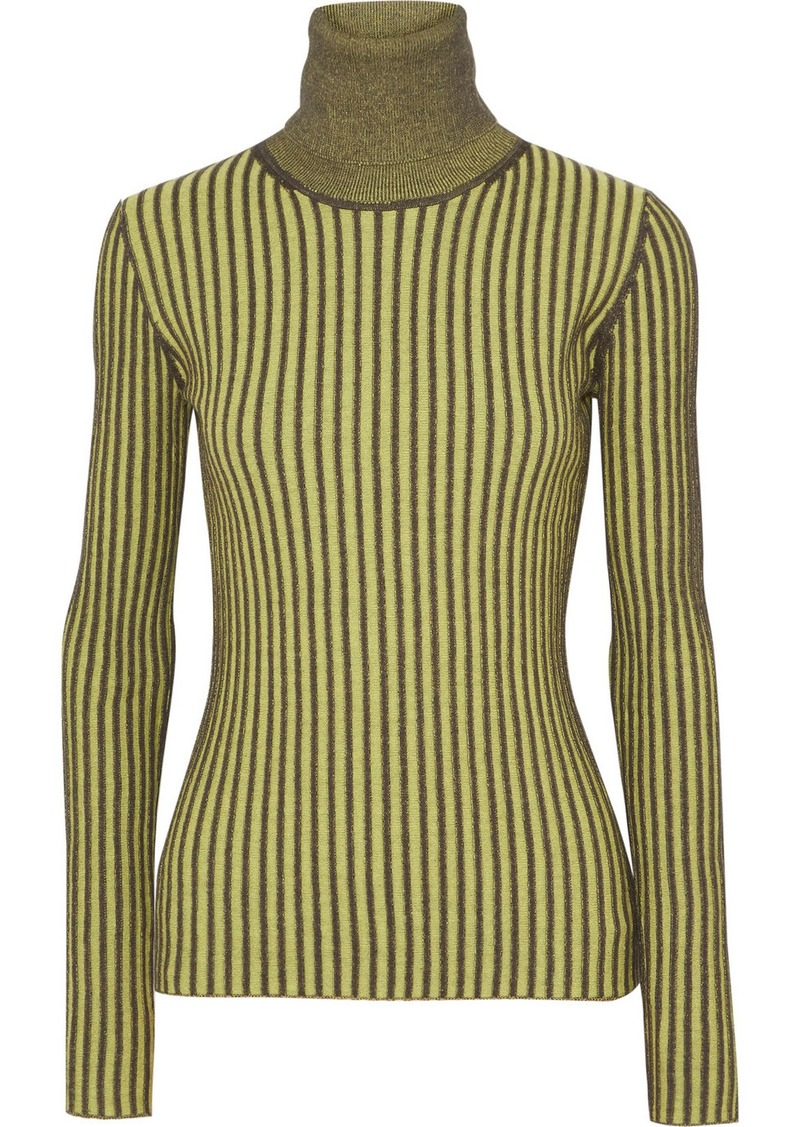 McQ Alexander McQueen Ribbed Cotton Turtleneck Sweater