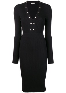 McQ Alexander McQueen ribbed midi dress