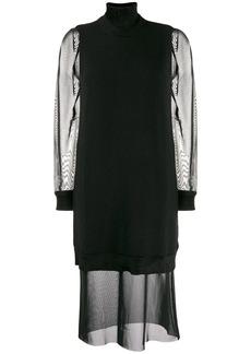 McQ Alexander McQueen roll neck shift dress
