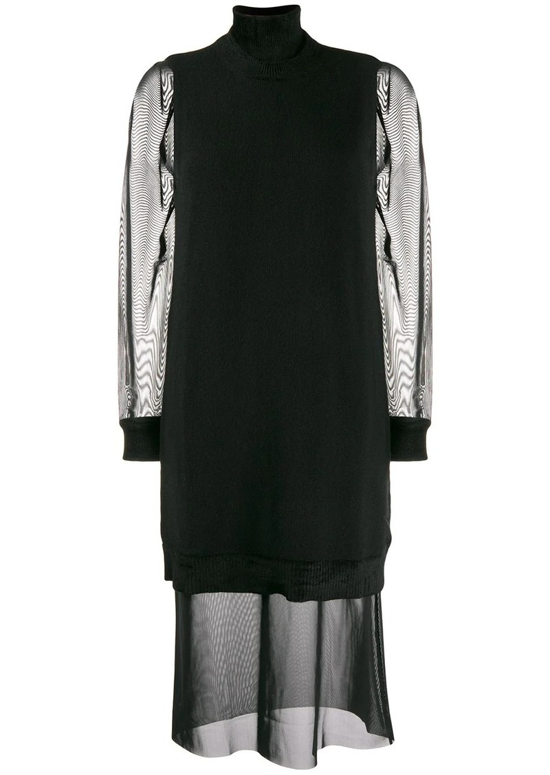 McQ Alexander McQueen roll neck shift dress