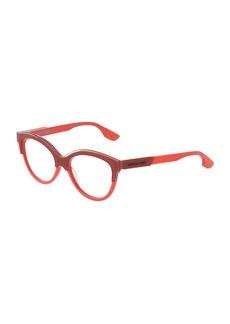McQ Alexander McQueen Round Plastic Optical Glasses