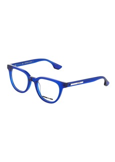 McQ Alexander McQueen Round Plastic Optical Glasses