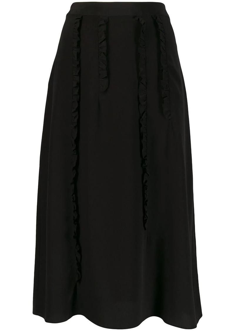 McQ Alexander McQueen ruffle trim skirt