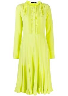 McQ Alexander McQueen ruffled midi dress
