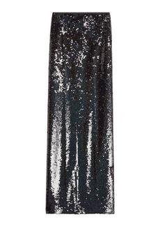 McQ Alexander McQueen Sequin Maxi Skirt with Slit