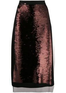 McQ Alexander McQueen sequin panel skirt