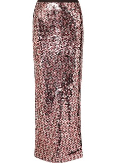 McQ Alexander McQueen Sequined Tulle Maxi Skirt