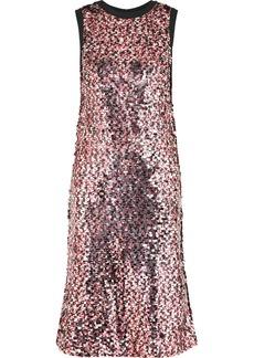McQ Alexander McQueen Sequined Tulle Midi Dress