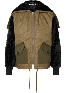 McQ Alexander McQueen Shearling And Felt-trimmed Quilted Shell Jacket