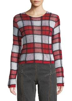 McQ Alexander McQueen Sheer Checker Sweater