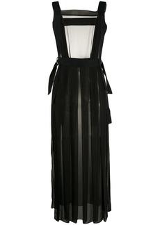 McQ Alexander McQueen sheer D-ring apron dress
