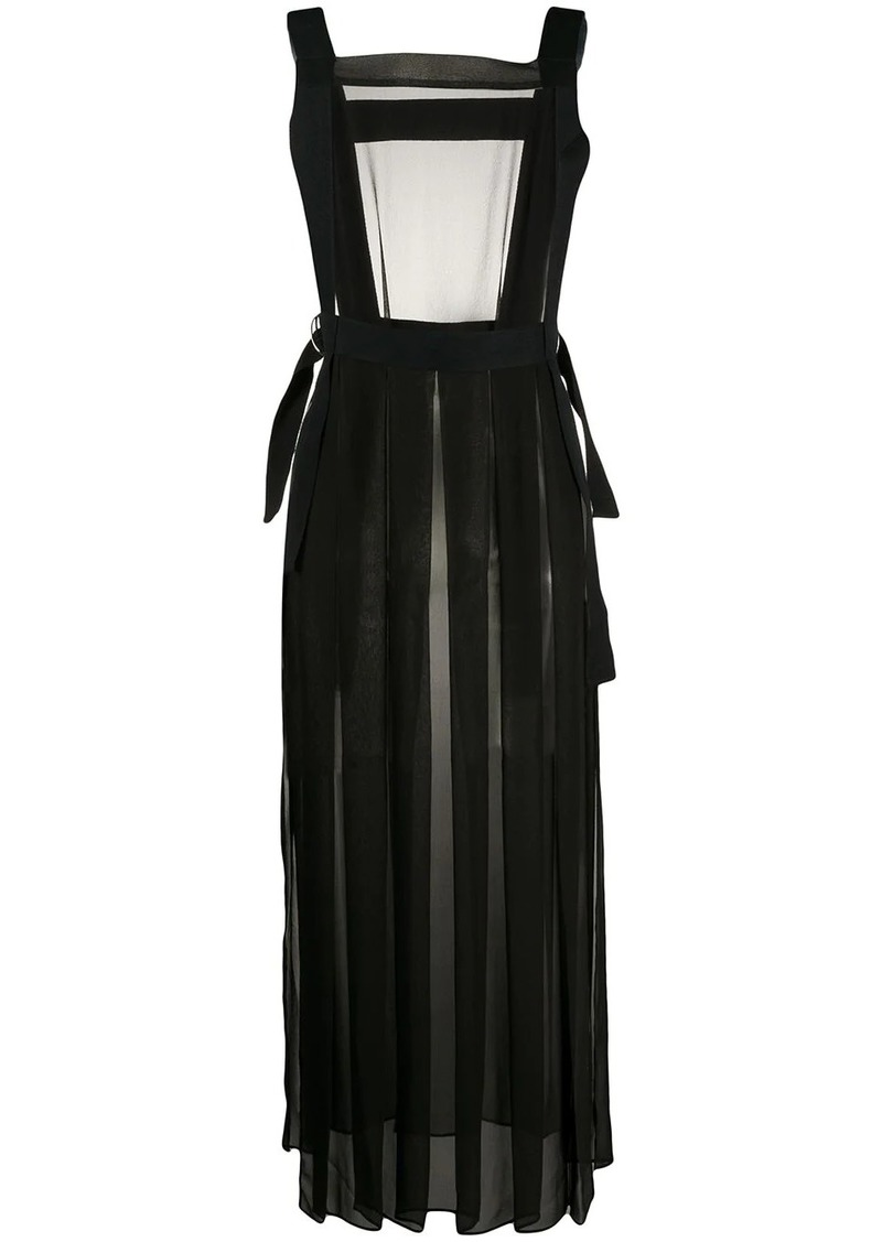 McQ Alexander McQueen sheer D-ring apron dress