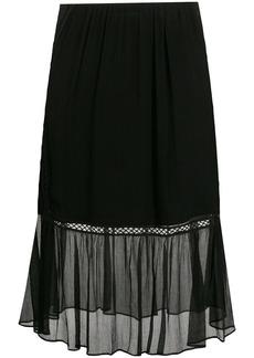 McQ Alexander McQueen sheer embroidered skirt