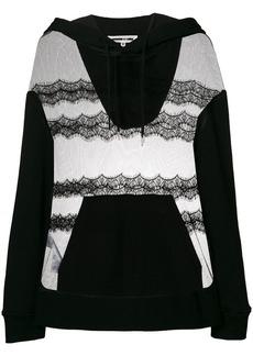 McQ Alexander McQueen sheer lace hoodie