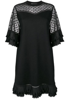 McQ Alexander McQueen sheer panel dress
