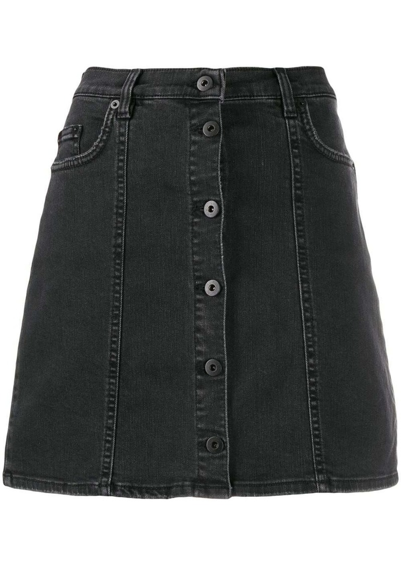 McQ Alexander McQueen short A-line denim skirt