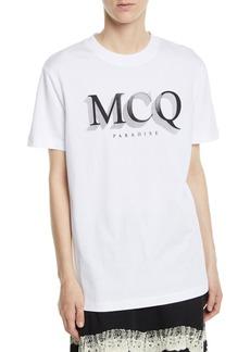 McQ Alexander McQueen Short-Sleeve Logo Crewneck Band Tee