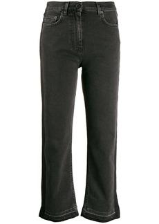 McQ Alexander McQueen side stripe cropped jeans